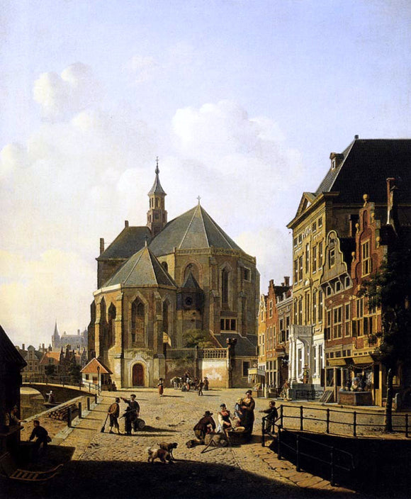 Jan Hendrik Verheijen A Capricio View In A Town - Canvas Art Print