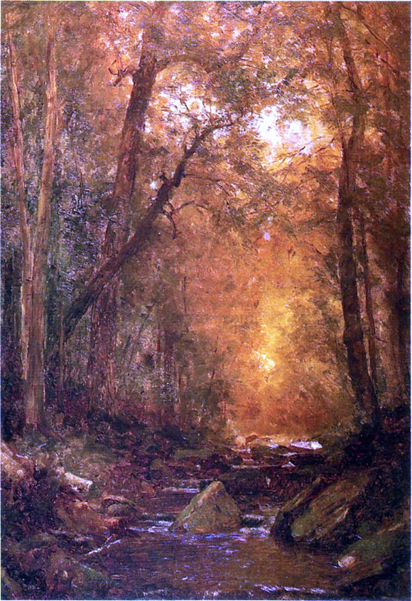 Thomas Worthington Whittredge A Catskill Brook - Canvas Art Print