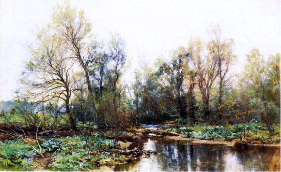 Hugh Bolton Jones A Clear Stream - Canvas Art Print