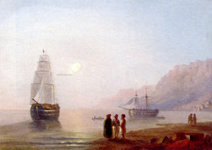 Ivan Constantinovich Aivazovsky A Conversation On The Shore, Dusk - Canvas Art Print
