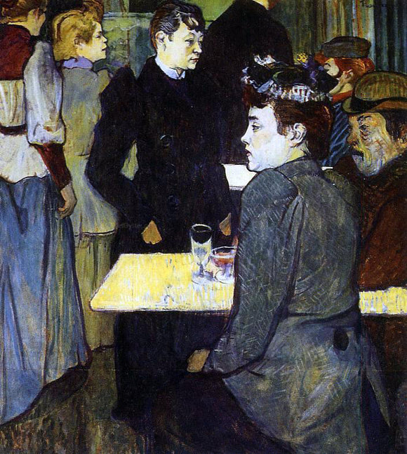 Henri De Toulouse-Lautrec A Corner in the Moulin de la Galette - Canvas Art Print