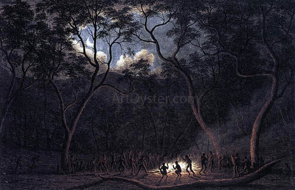 John Glover A Corroboree in Van Diemen's Land - Canvas Art Print