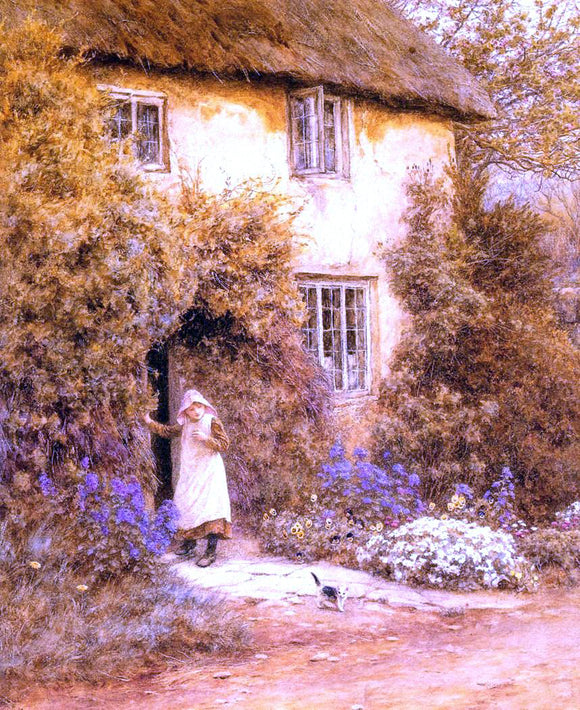 Helen Allingham A Cottage Door - Canvas Art Print