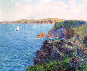 Gustave Loiseau A Cove at Sevignies, Cap Frehel - Canvas Art Print