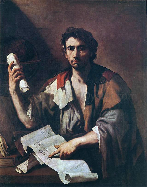 Luca Giordano Cynical Philospher - Canvas Art Print