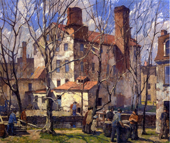 Robert Spencer A Day in March (also known as Mills) - Canvas Art Print