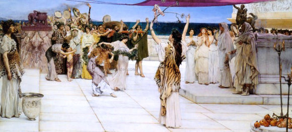 Sir Lawrence Alma-Tadema A Dedication to Bacchus - Canvas Art Print