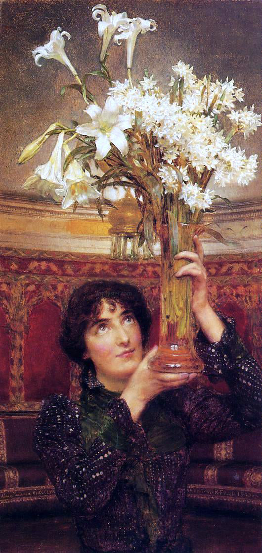 Sir Lawrence Alma-Tadema A Flag of Truce - Canvas Art Print
