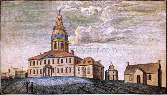 Charles Willson Peale A Front View of Statehouse at Annapolis - Canvas Art Print