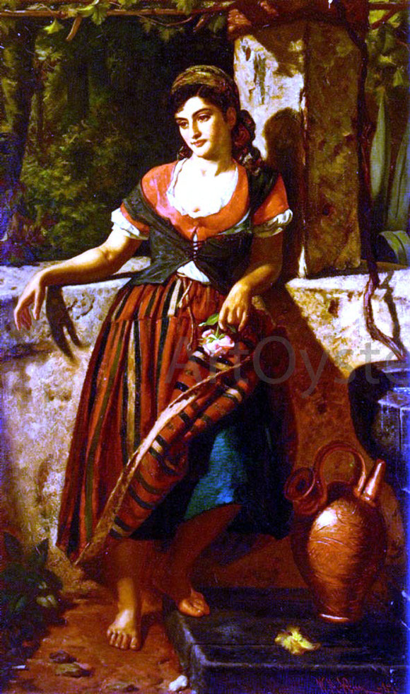 William M Hay A Girl Of Maderia - Canvas Art Print