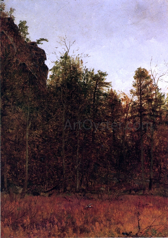 Thomas Worthington Whittredge A  Grey Day Under the Cliff - Canvas Art Print