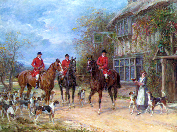 Heywood Hardy A Halt at the Inn - Canvas Art Print