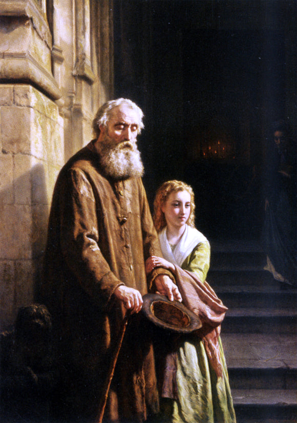 Josephus Laurentius Dyckmans A Helping Hand - Canvas Art Print