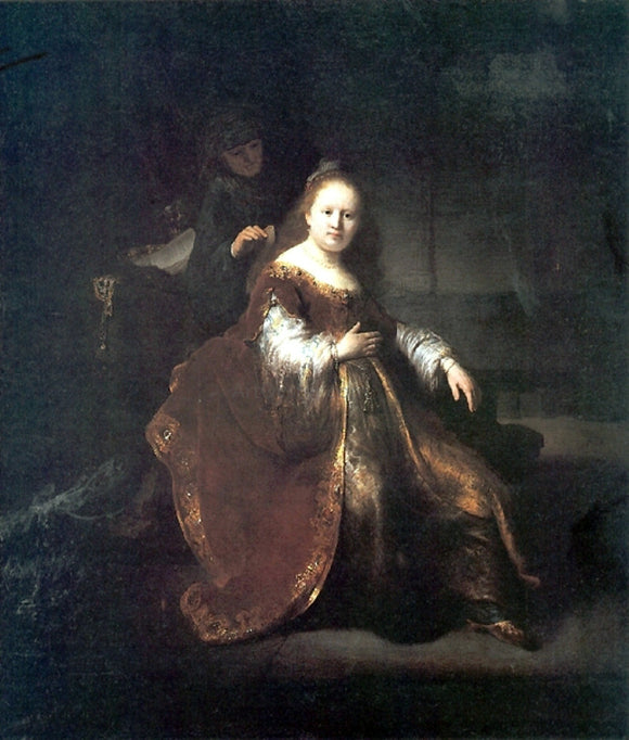 Rembrandt Van Rijn A Heroine from the Old Testament - Canvas Art Print