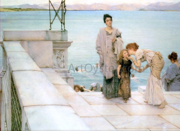 Sir Lawrence Alma-Tadema A Kiss - Canvas Art Print
