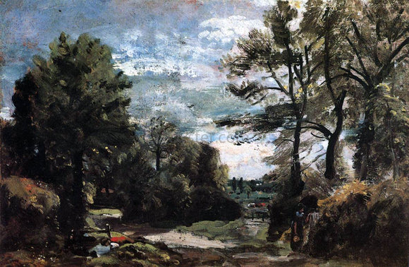 John Constable A Lane near Flatford - Canvas Art Print