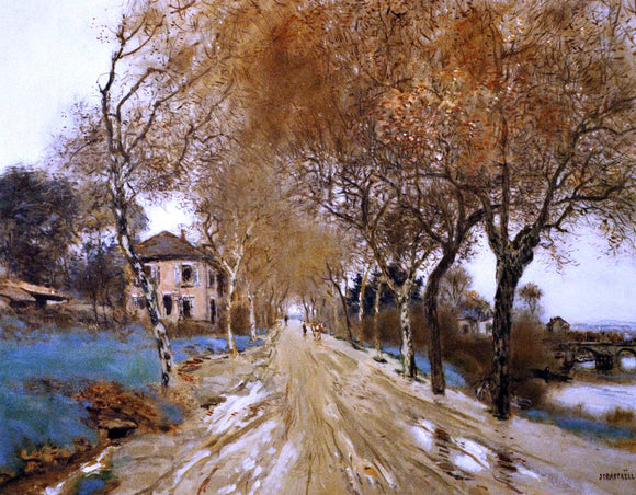 Jean-Francois Raffaelli A Lane of Plane Trees - Canvas Art Print