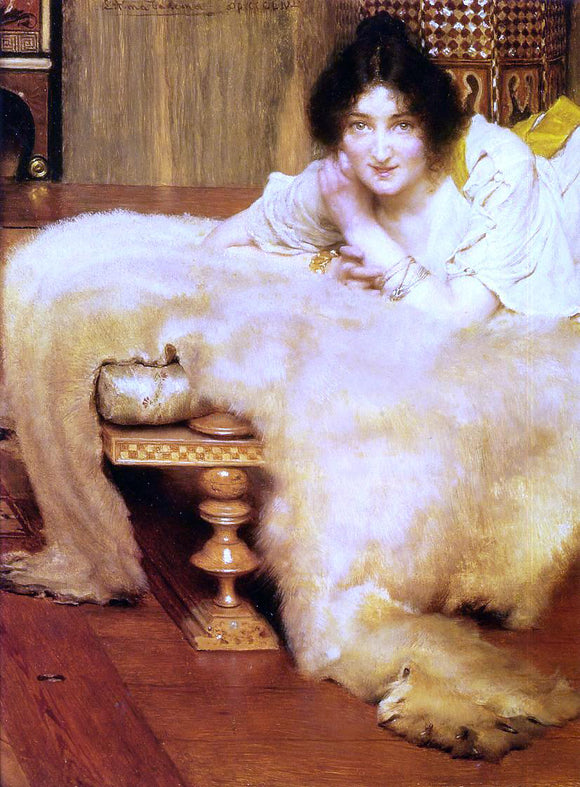 Sir Lawrence Alma-Tadema A Listener - Canvas Art Print