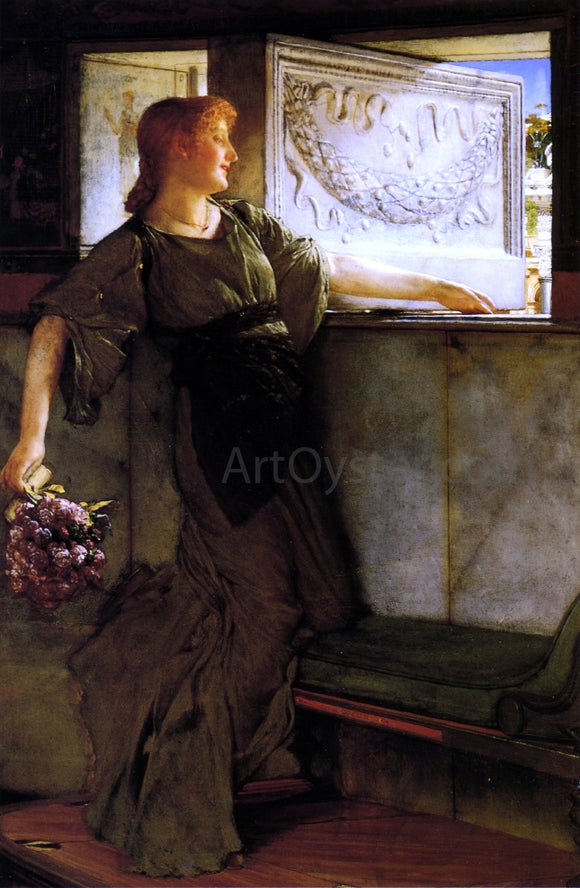 Sir Lawrence Alma-Tadema A Love Missle - Canvas Art Print