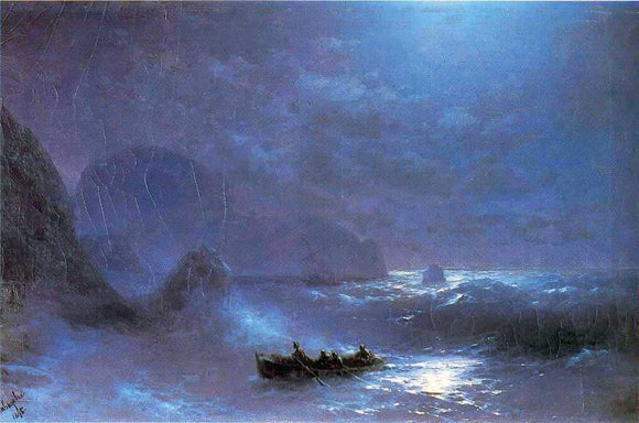 Ivan Constantinovich Aivazovsky A Lunar Night on a Sea - Canvas Art Print