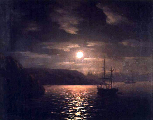 Ivan Constantinovich Aivazovsky A Lunar Night on the Black Sea - Canvas Art Print