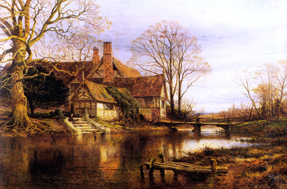 Benjamin Williams Leader A Moated Grange - Canvas Art Print