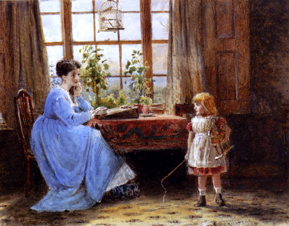George Goodwin Kilburne Mother And Child in an Interior - Canvas Art Print