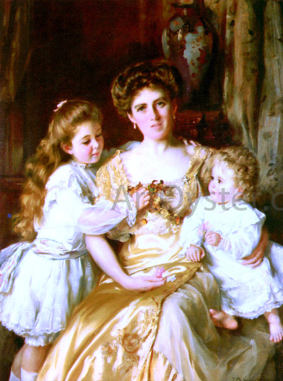 Thomas Benjamin Kennington A Mother's Love - Canvas Art Print