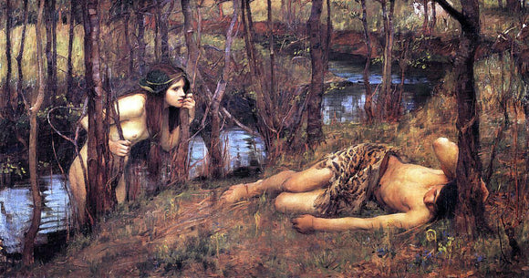 John William Waterhouse A Naiad - Canvas Art Print