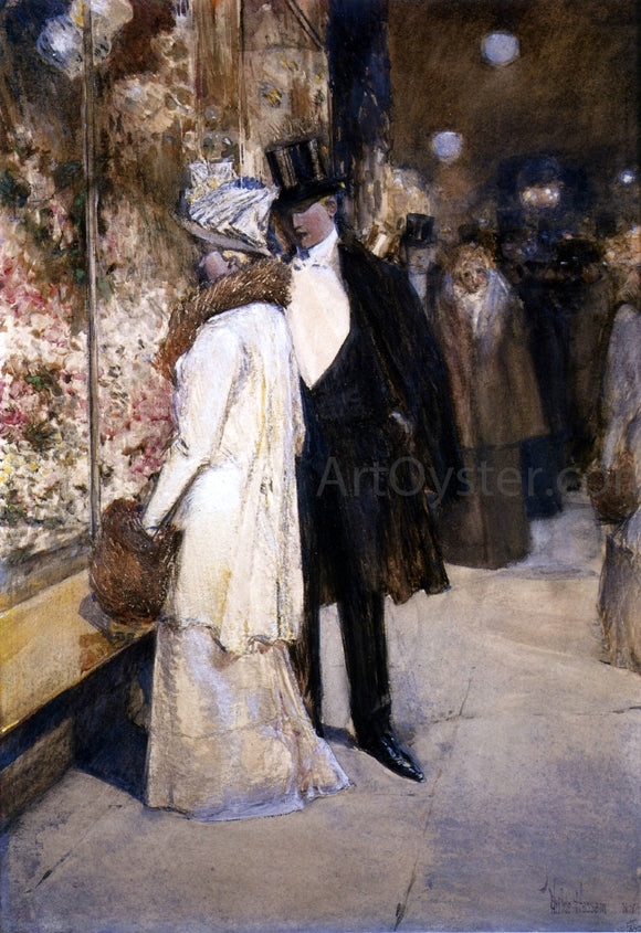 Frederick Childe Hassam New Year's Nocturne, New York - Canvas Art Print