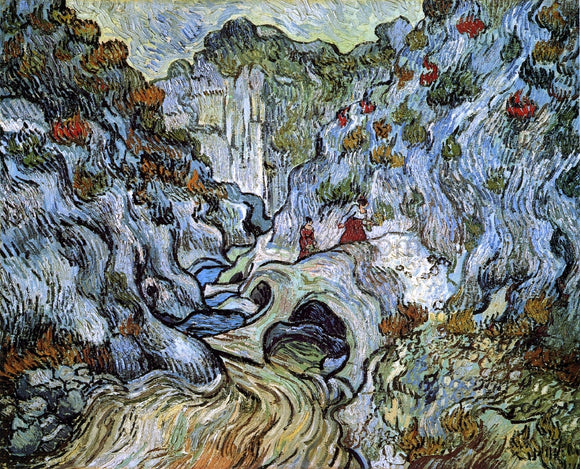 Vincent Van Gogh A Path through a Ravine - Canvas Art Print