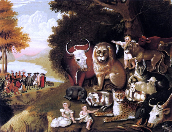 Edward Hicks A Peaceable Kingdom - Canvas Art Print