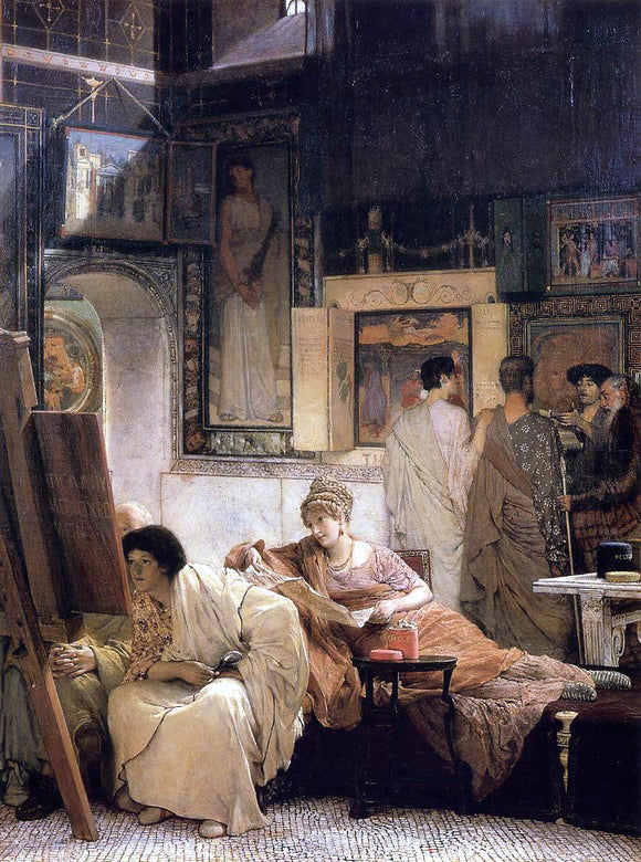 Sir Lawrence Alma-Tadema A Picture Gallery (also known as Benjamin Constant) - Canvas Art Print