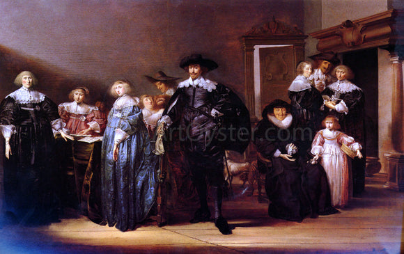 Pieter Codde A Portrait Of THe Family Twent In An Interior - Canvas Art Print
