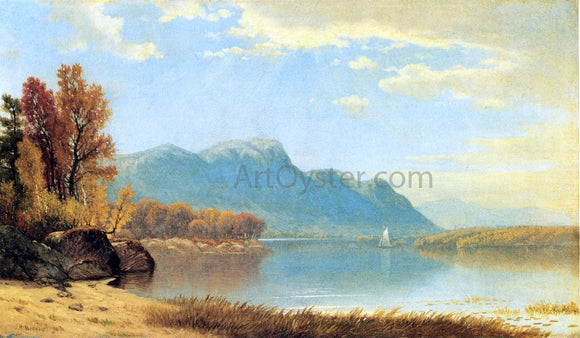 James Renwick Brevoort A Quiet Day on the Lake - Canvas Art Print