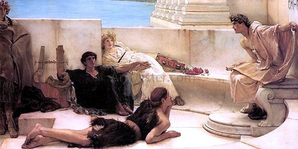 Sir Lawrence Alma-Tadema A Reading from Homer - Canvas Art Print