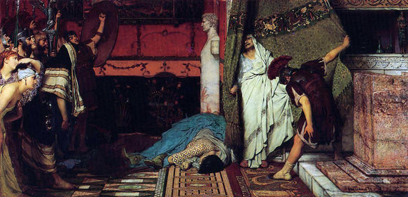 Sir Lawrence Alma-Tadema A Roman Emperor - Claudius - Canvas Art Print