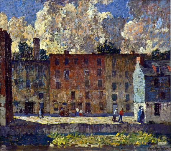 Robert Spencer A Row of Tenements - Canvas Art Print