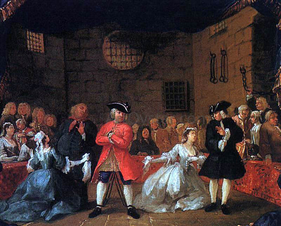 William Hogarth A Scene from the Beggar's Opera - Canvas Art Print