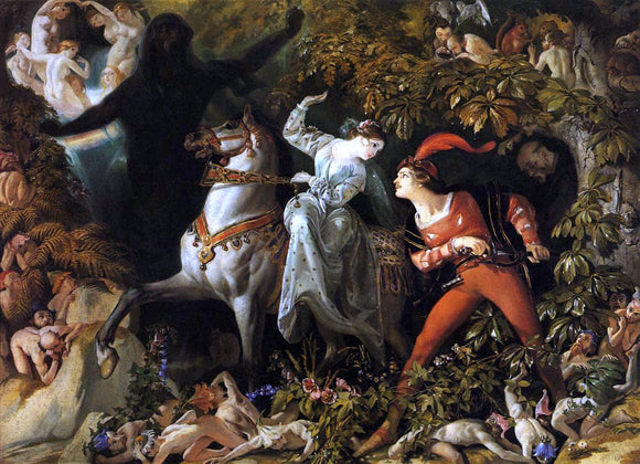 Daniel Maclise Scene from 'Undine' - Canvas Art Print