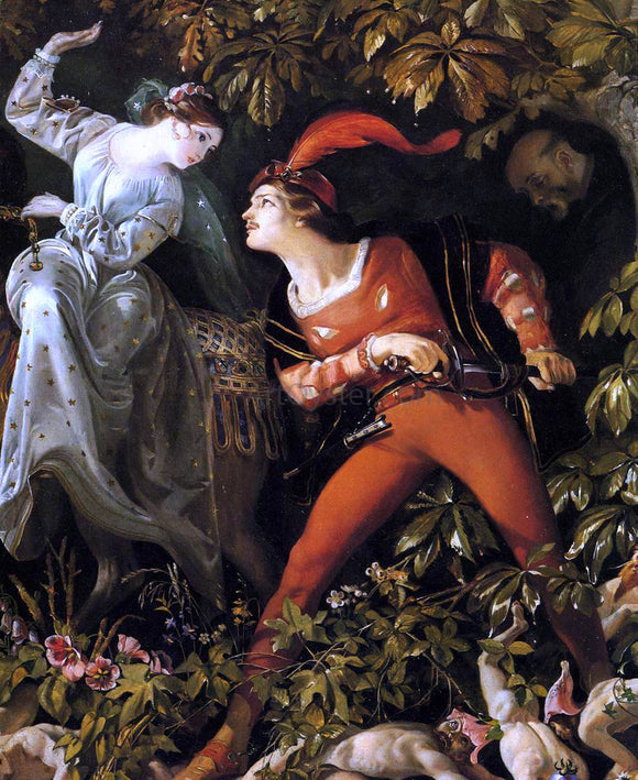Daniel Maclise A Scene from 'Undine' (detail) - Canvas Art Print