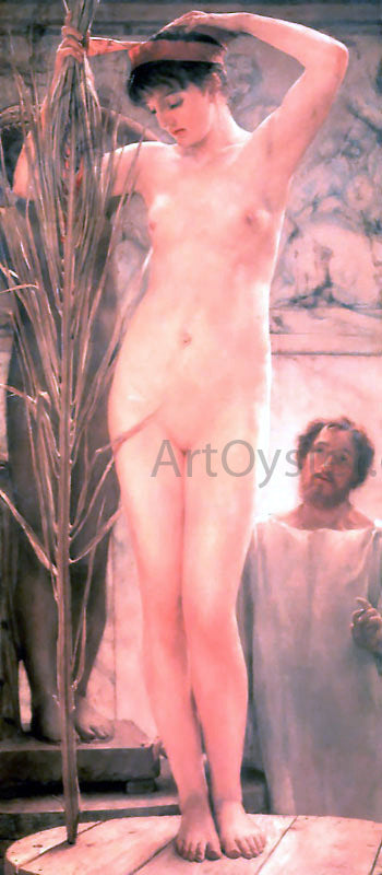 Sir Lawrence Alma-Tadema A Sculptor's Model (also known as Venus Esquilina) - Canvas Art Print