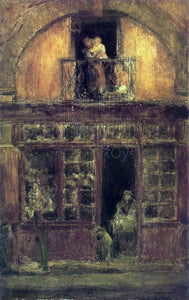 James McNeill Whistler A Shop with a Balcony - Canvas Art Print