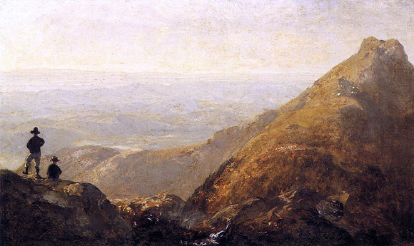 Sanford Robinson Gifford A Sketch of Mansfield Mountain - Canvas Art Print