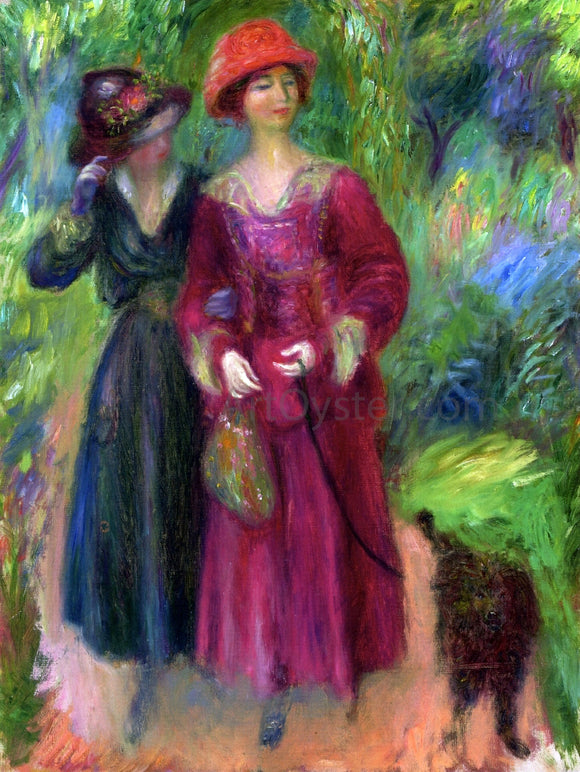 William James Glackens A Stroll in the Park - Canvas Art Print