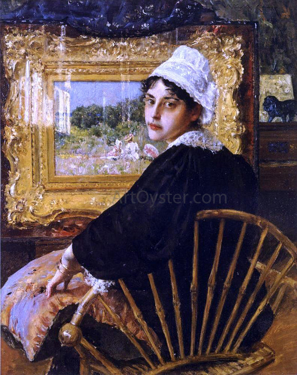 William Merritt Chase A Study (also known as The Artist's Wife) - Canvas Art Print