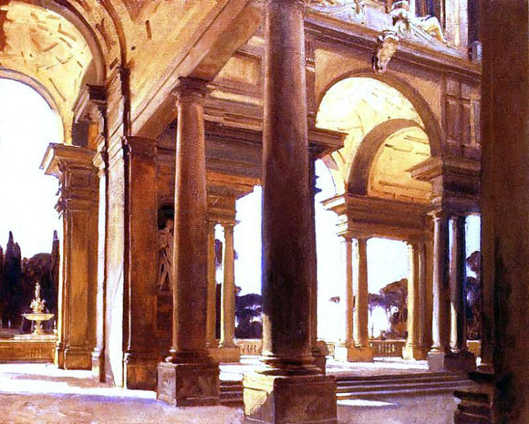 John Singer Sargent A Study of Architecture, Florence - Canvas Art Print