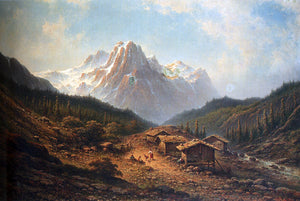 Johannes Hilverdink A Summer Day In The Alps - Canvas Art Print