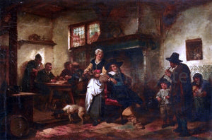 Herman Frederik Ten Kate A Tavern Scene - Canvas Art Print