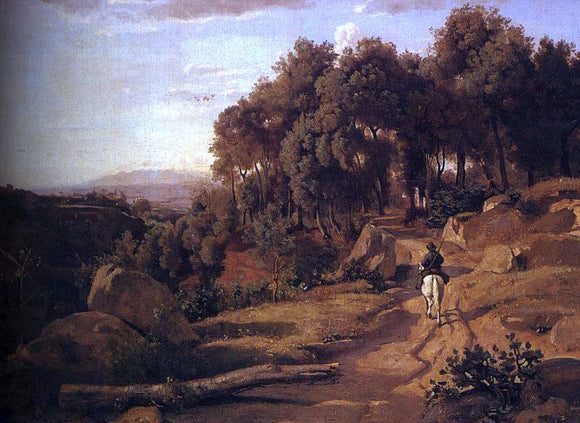 Jean-Baptiste-Camille Corot A View near Colterra - Canvas Art Print